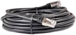 Cat5e Patchkabel Wirewin 100% Kupfer RJ45 F/UTP, AWG26, Anti-UV PVC Mantel, schwarz